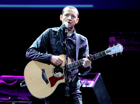 LOS ANGELES, CA - MAY 06:  Singer Chester Bennington performs at the 7th Annual MusiCares MAP Fund Benefit at Club Nokia on May 6, 2011 in Los Angeles, California.  (Photo by Kevin Winter/Getty Images)